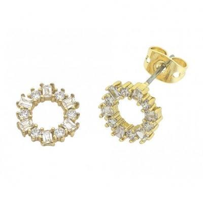 Buy Anna Earrings- Gold by Liberte - at White Doors & Co