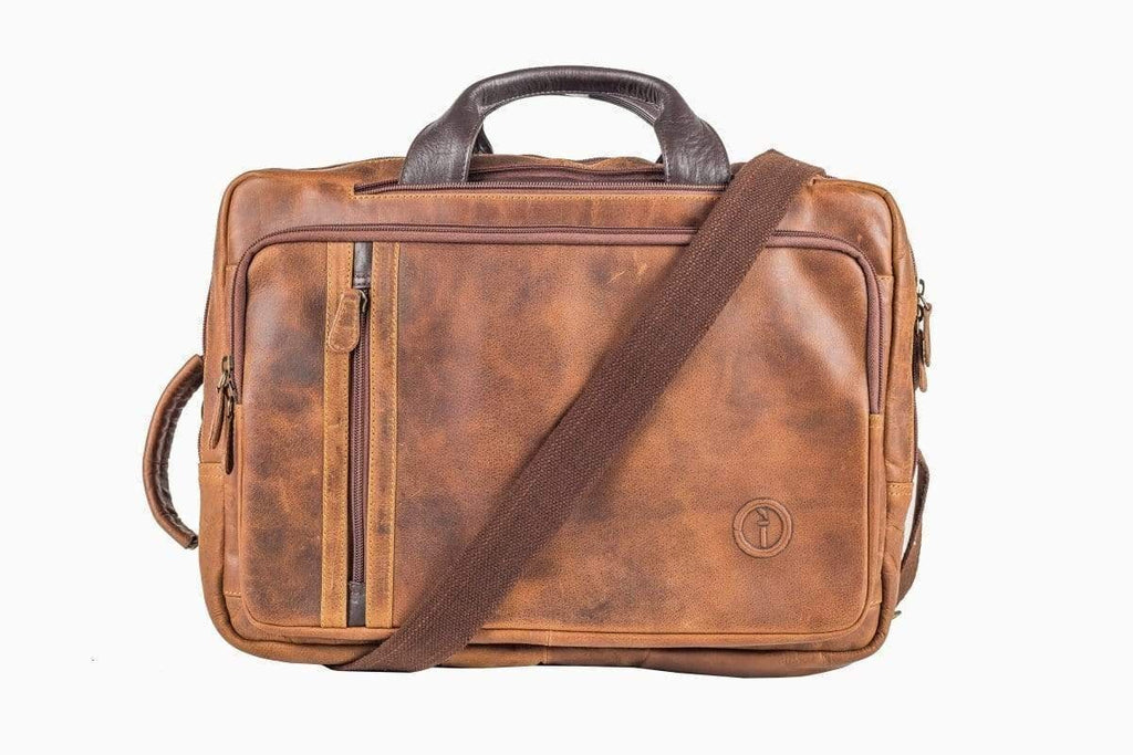 Buy Arno Combination Bag - CH Tan by Indepal - at White Doors & Co