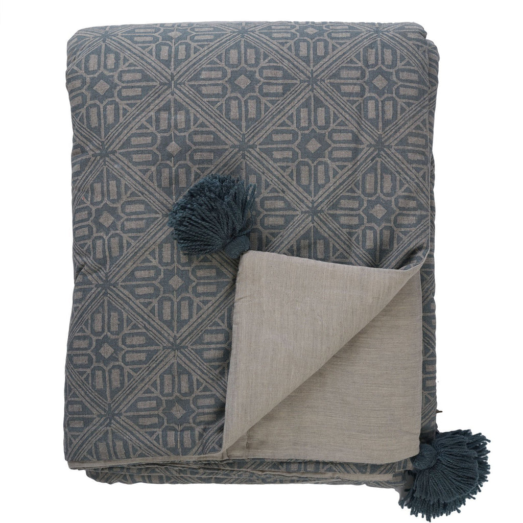 Buy Azure Mondello Quilt by Canvas & Sasson - at White Doors & Co