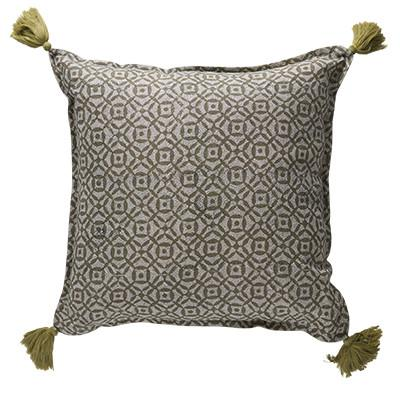Buy Babbington Glaze Olive Cushion by Canvas & Sasson - at White Doors & Co