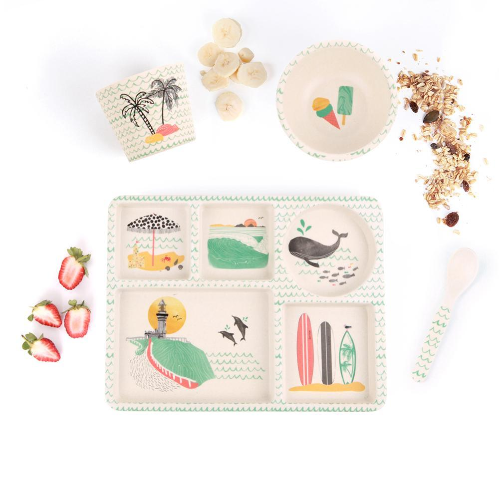 Buy Baby Feeding Set - Byron Bay by Love Mae - at White Doors & Co