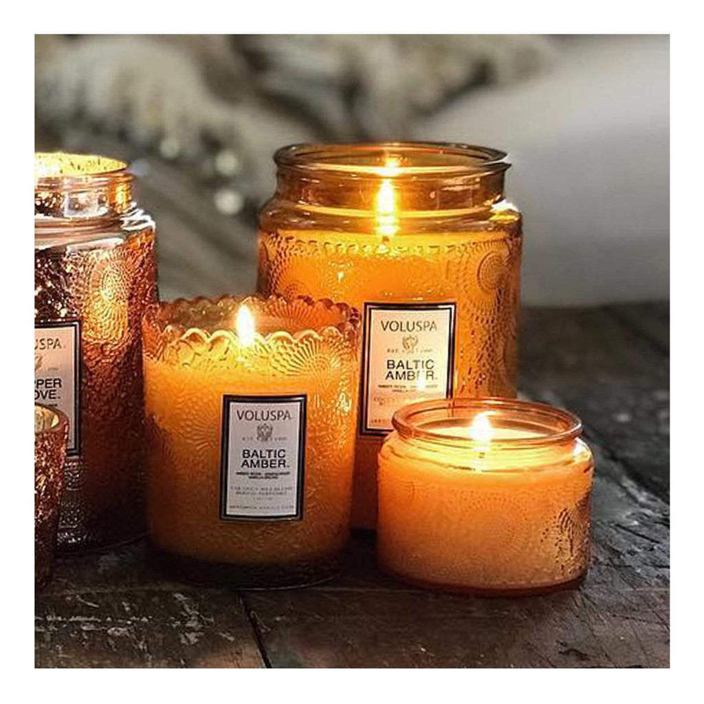 Buy Baltic Amber Petit Jar Candle by Voluspa - at White Doors & Co