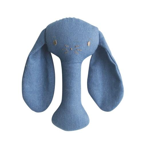 Buy Bobby Bunny Rattle Chambray by Alimrose - at White Doors & Co