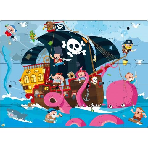 Buy Book & Giant Puzzle - Pirates by Axis - at White Doors & Co