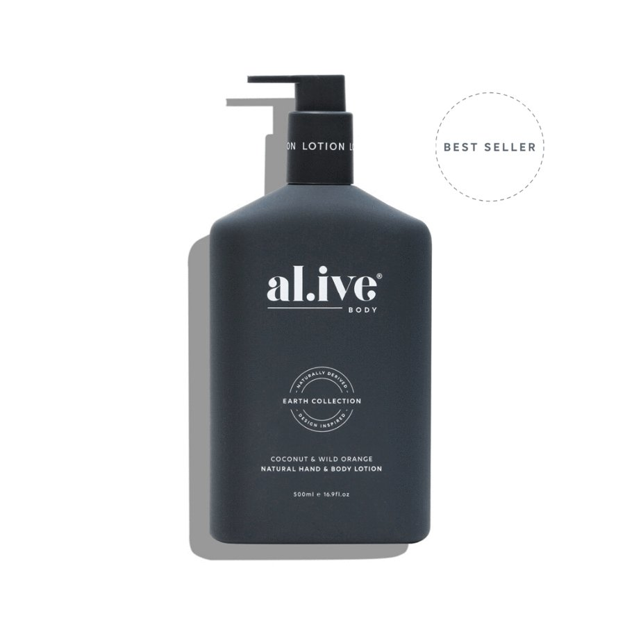 Buy COCONUT & WILD ORANGE HAND & BODY LOTION by Al.ive - at White Doors & Co