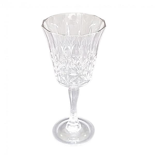 Buy Crystal Cut Wine-Silver Rim by Flair - at White Doors & Co