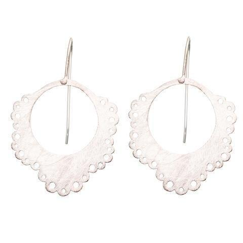 Buy Doily Earrings - Silver by RubyTeva - at White Doors & Co