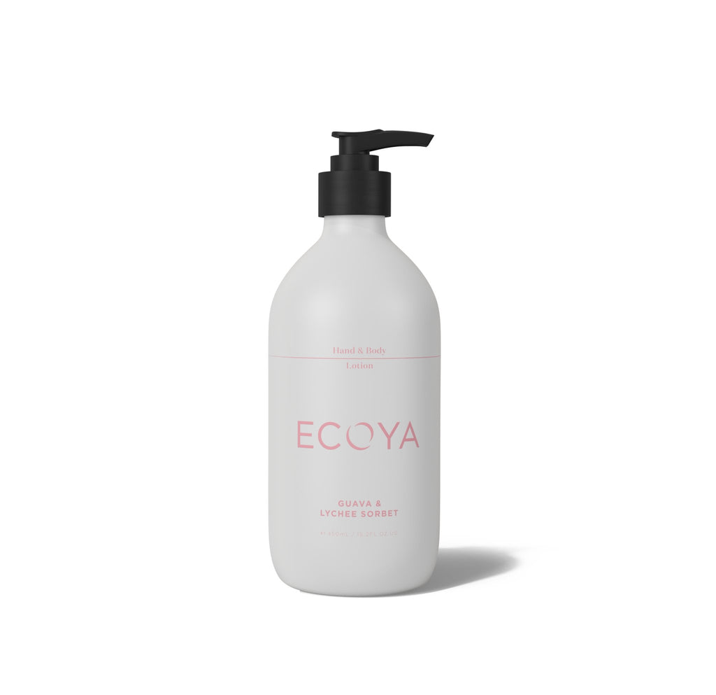 Buy Ecoya Guava & Lychee Sorbet Hand & Body Lotion by Ecoya - at White Doors & Co