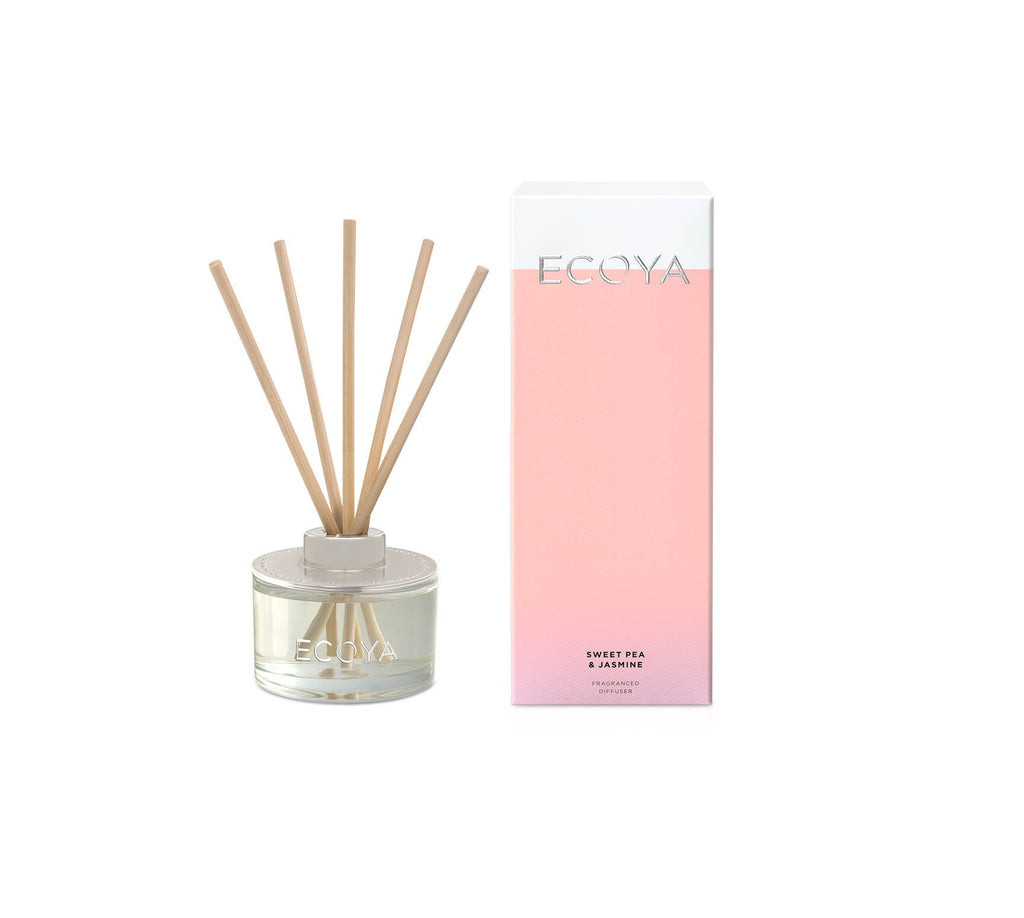 Buy Ecoya Sweet Pea & Jasmine Mini Reed Diffuser by Ecoya - at White Doors & Co