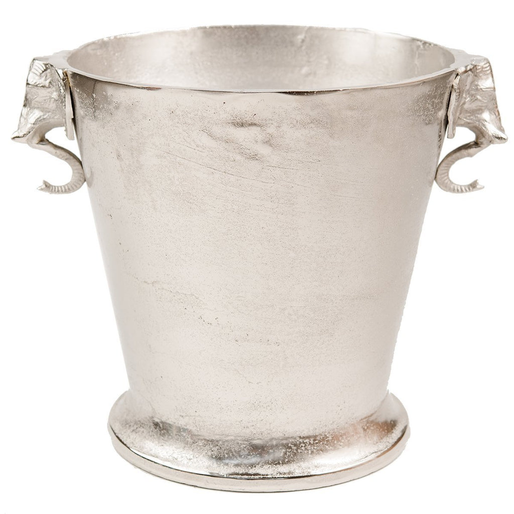Buy Elephant Wine Bucket - Raw Nickel by Ruby Star Traders - at White Doors & Co