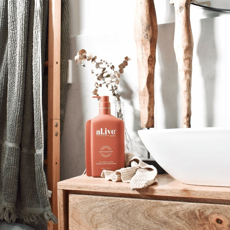 Buy Fig, Apricot & Sage Hand & Body Wash by Al.ive - at White Doors & Co