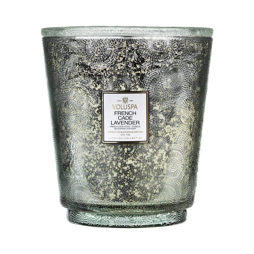 Buy French Cade & Lavender Amber Hearth Candle by Voluspa - at White Doors & Co