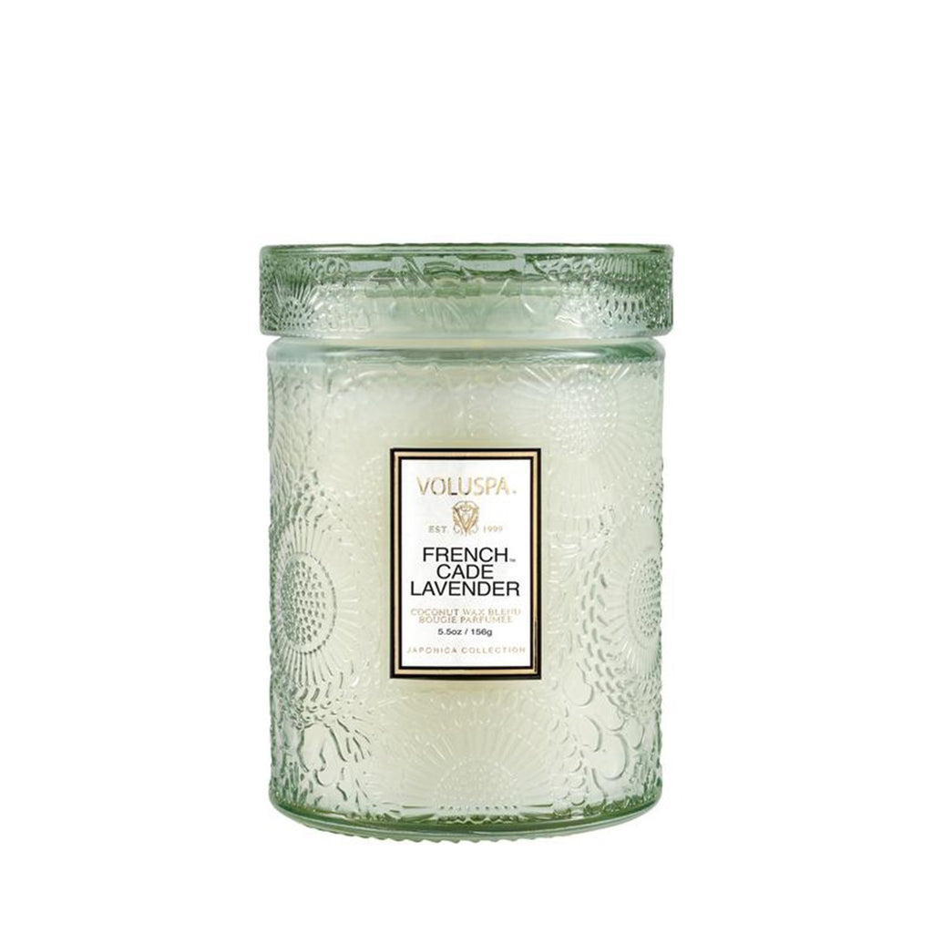 Buy French Cade & Lavender Glass Candle by Voluspa - at White Doors & Co
