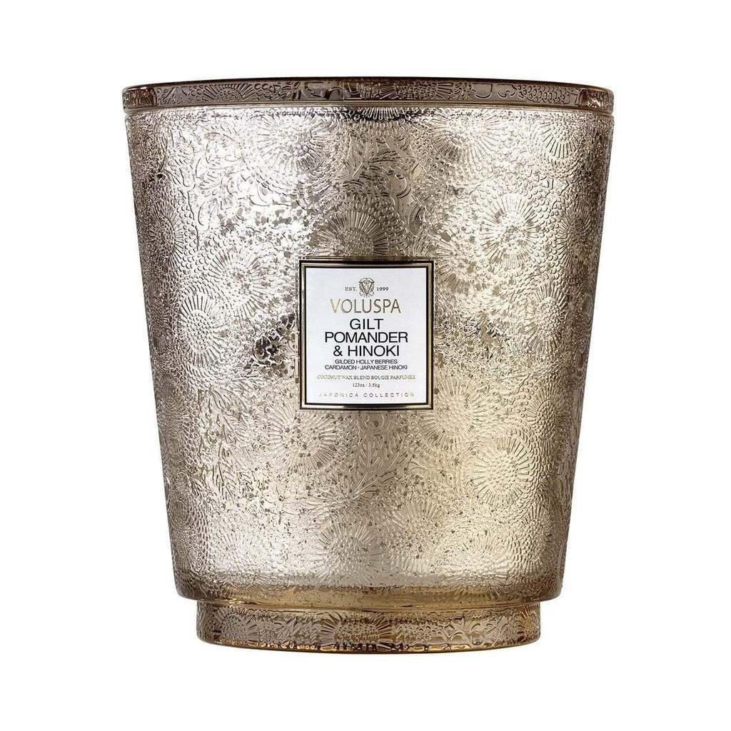 Buy Gilt Pomander Hearth Candle by Voluspa - at White Doors & Co