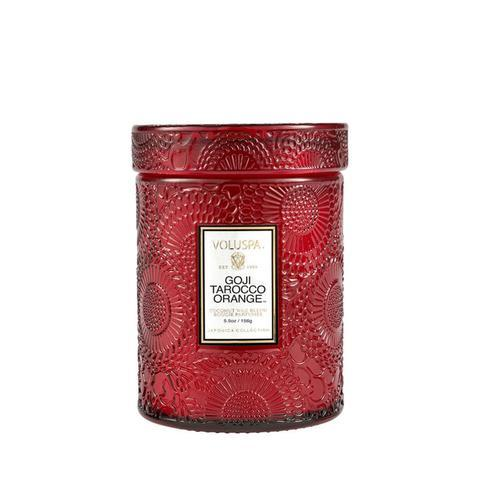 Buy Goji Tarocco Orange Glass Candle by Voluspa - at White Doors & Co