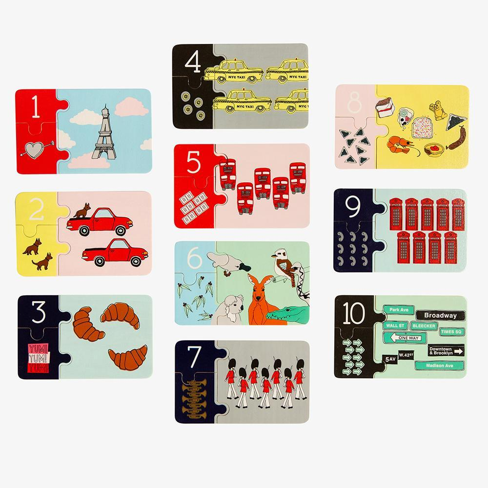 Buy Iconic Counting Jigsaw by Make Me Iconic - at White Doors & Co