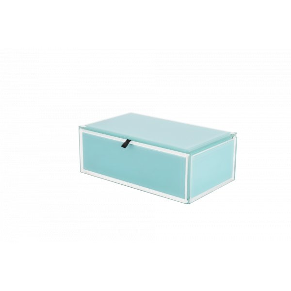 Buy Jewel Box - Glass Bevel Cyan (M) by Flair - at White Doors & Co
