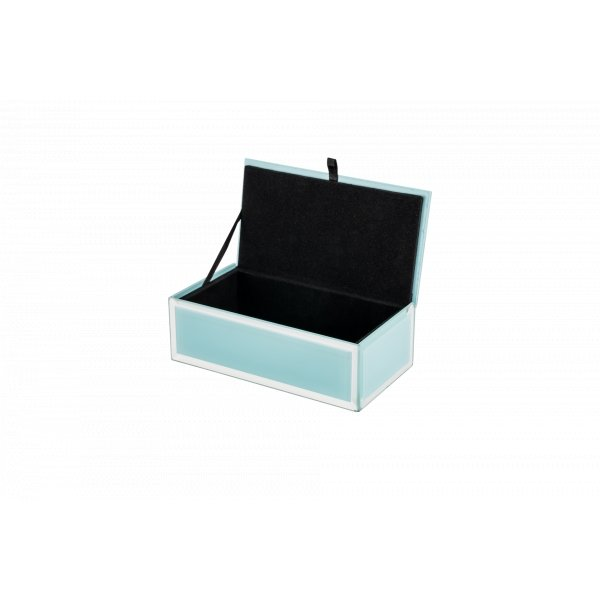 Buy Jewel Box - Glass Bevel Cyan (S) by Flair - at White Doors & Co