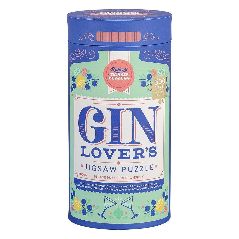 Buy Jigsaw Puzzle 500pcs Gin Lover by Wild & Wolf - at White Doors & Co