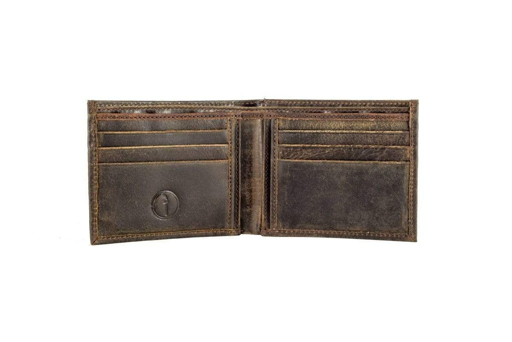 Buy Men's Wallet - Slot - CH Brown by Indepal - at White Doors & Co