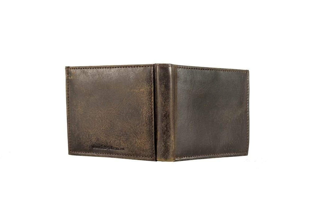 Buy Men's Wallet - Slot - Vintage Brown by Indepal - at White Doors & Co