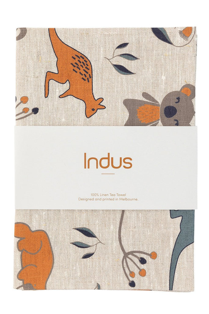 Buy Outback Linen Tea Towel by Indus Design - at White Doors & Co