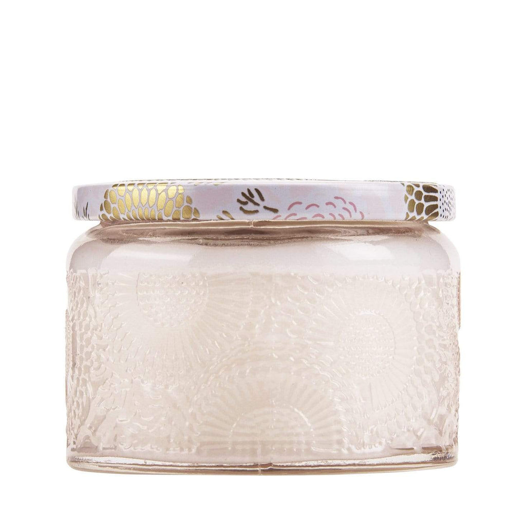 Buy Panjore Lychee Petite Jar Candle by Voluspa - at White Doors & Co