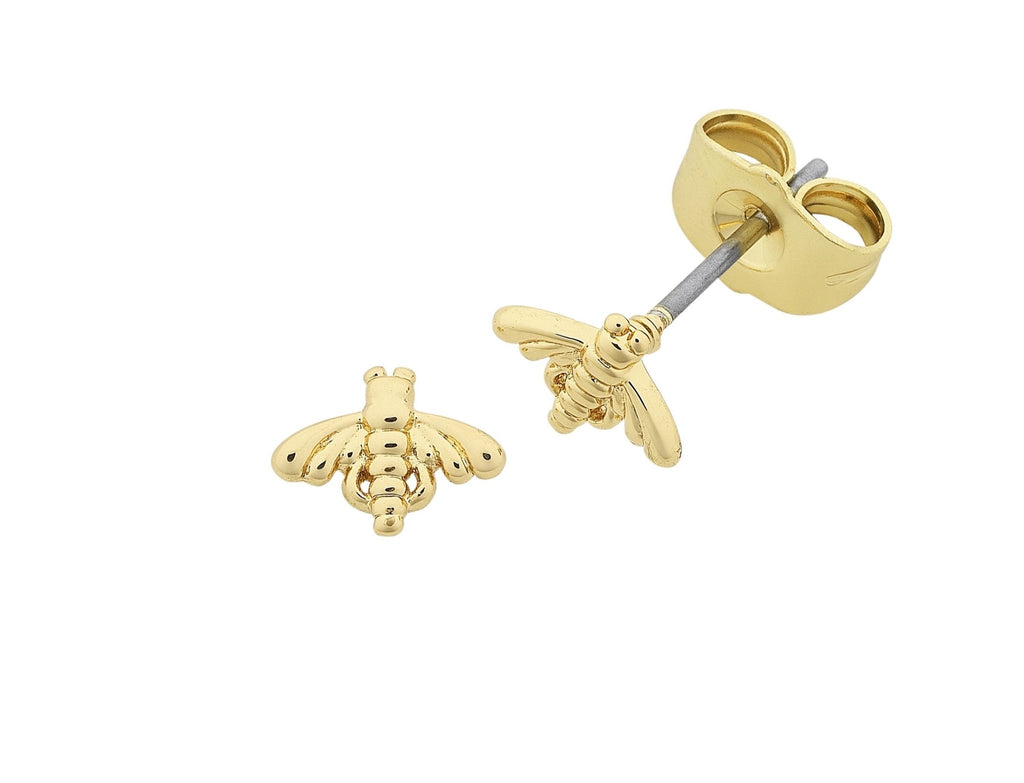 Buy Petite Bee Earrings - Gold by Liberte - at White Doors & Co