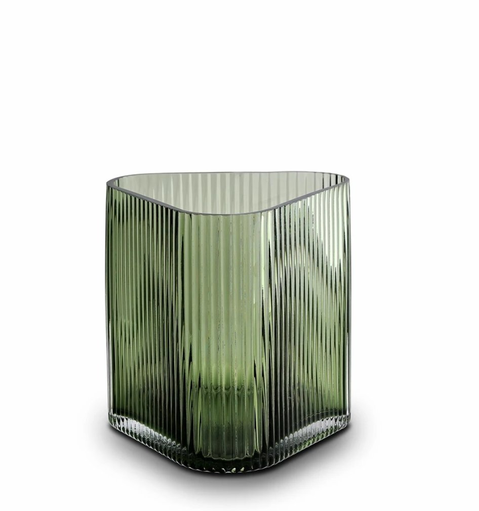 Buy Profile Vase, Green - Large by Marmoset Found - at White Doors & Co