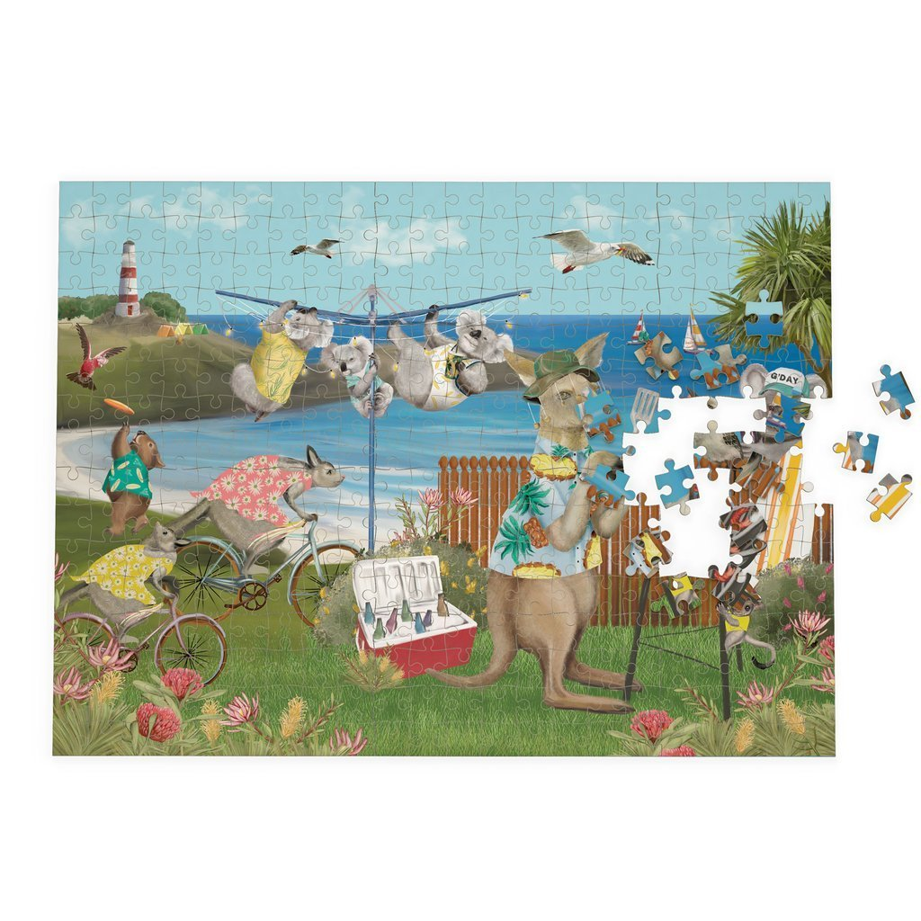 Buy Puzzle Festive Holiday by La La Land - at White Doors & Co