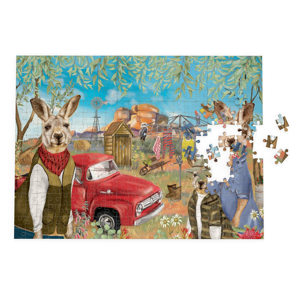 Buy Puzzle Sunny Outback Mischief by La La Land - at White Doors & Co