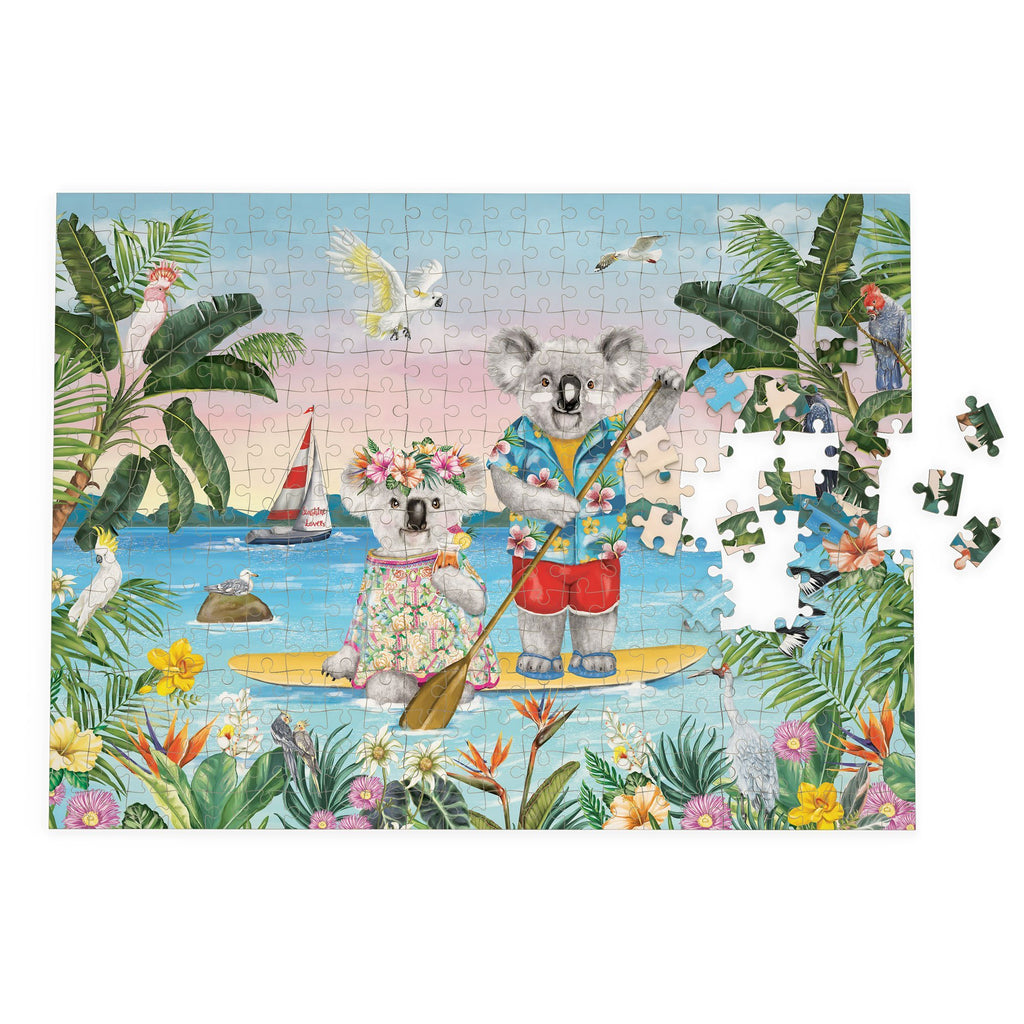 Buy Puzzle Sunshine Lovers Paddle Board by La La Land - at White Doors & Co