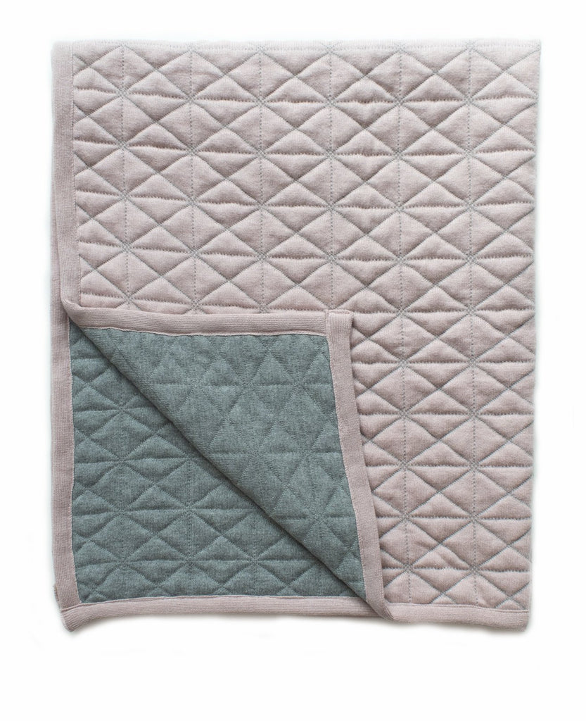 Buy Reversible Quilted Blanket Blush by Indus Design - at White Doors & Co