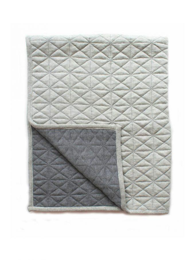 Buy Reversible Quilted Blanket Grey by Indus Design - at White Doors & Co