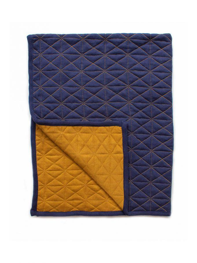 Buy Reversible Quilted Blanket Indigo by Indus Design - at White Doors & Co