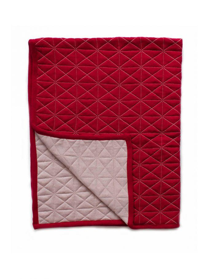 Buy Reversible Quilted Blanket Poppy by Indus Design - at White Doors & Co