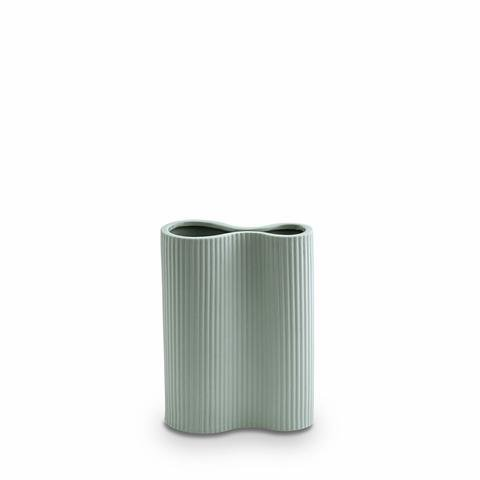 Buy Ribbed Infinity Vase - Blue (S) by Marmoset Found - at White Doors & Co