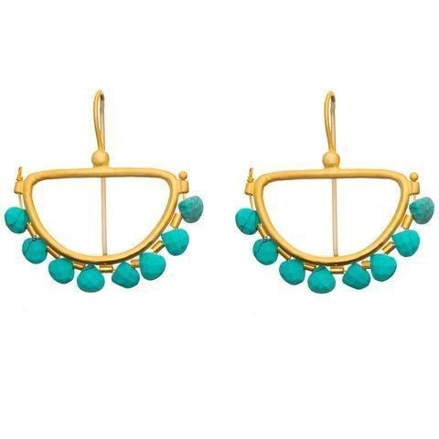 Buy Semi Circle Earrings - Turq by RubyTeva - at White Doors & Co