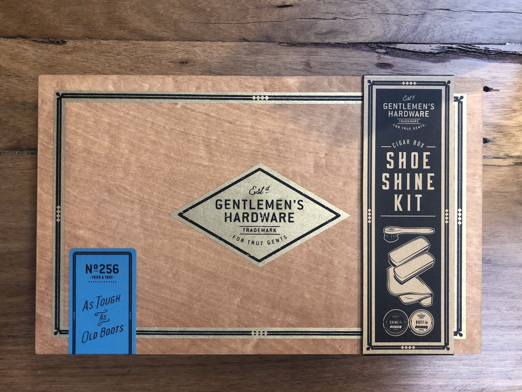 Buy Shoe Shine Cigar Box by Wild & Wolf - at White Doors & Co