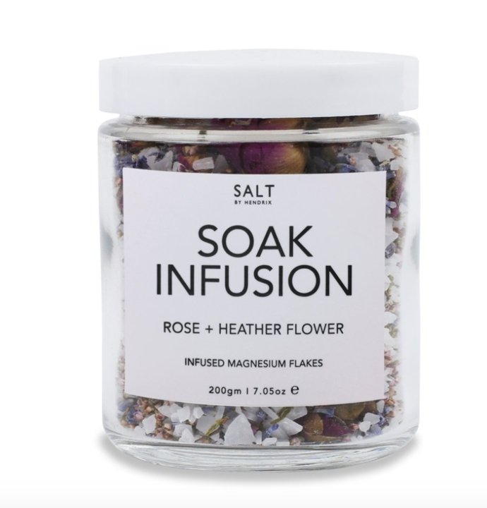 Buy Soak Infusion - Rose + Heather Flower by Salt By Hendrix - at White Doors & Co