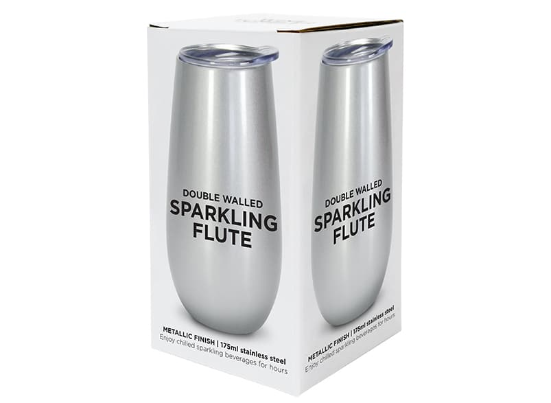 Buy Sparkling Flute Stainless - Silver by Annabel Trends - at White Doors & Co