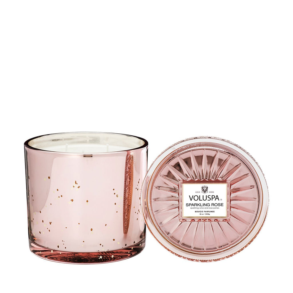 Buy Sparkling Rose Grande Candle by Voluspa - at White Doors & Co