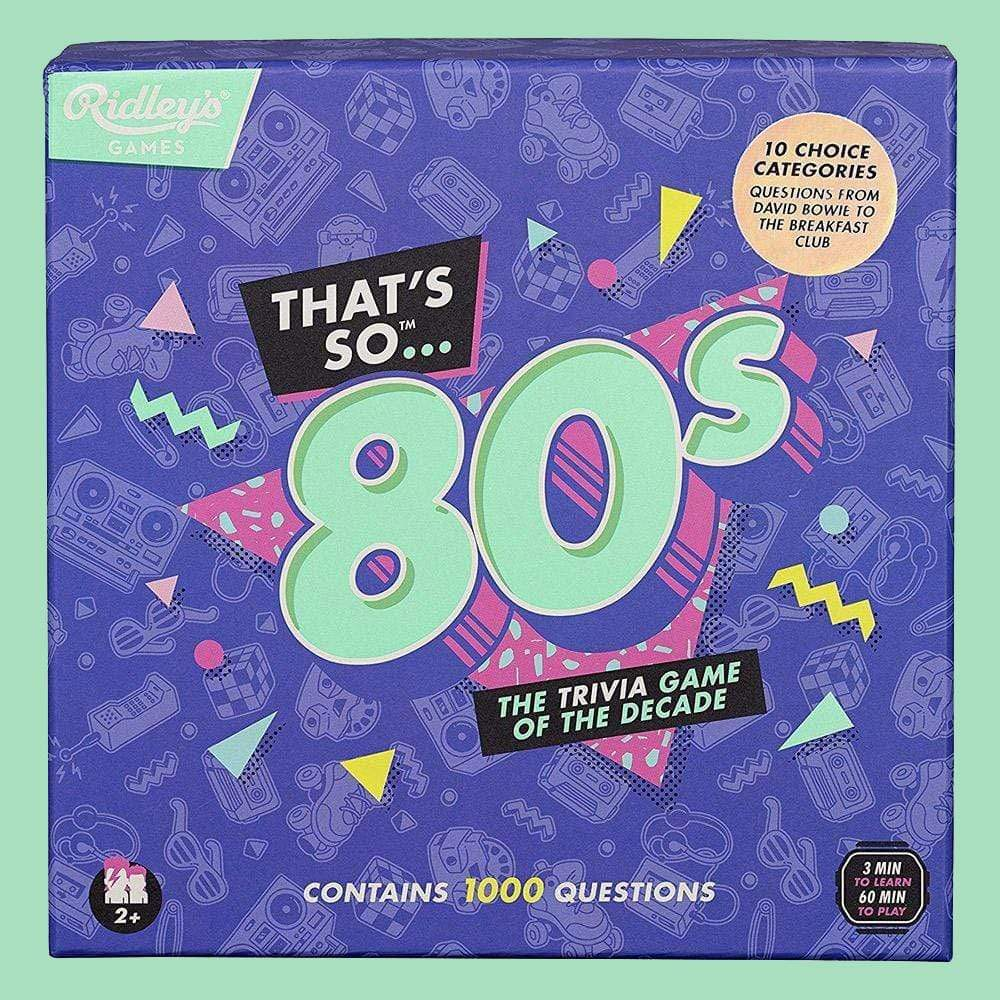 Buy Thats So 80s Quiz UK by Wild & Wolf - at White Doors & Co