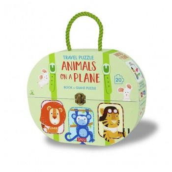 Buy Travel Giant Puzzle & Book Animals Of The Plane by Axis - at White Doors & Co