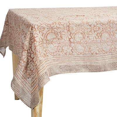 Buy Verne Tablecloth Rose by Canvas & Sasson - at White Doors & Co