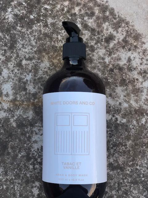 Buy White Doors Hand & Body Wash - Tabac Et Vanille by White Doors & Co - at White Doors & Co