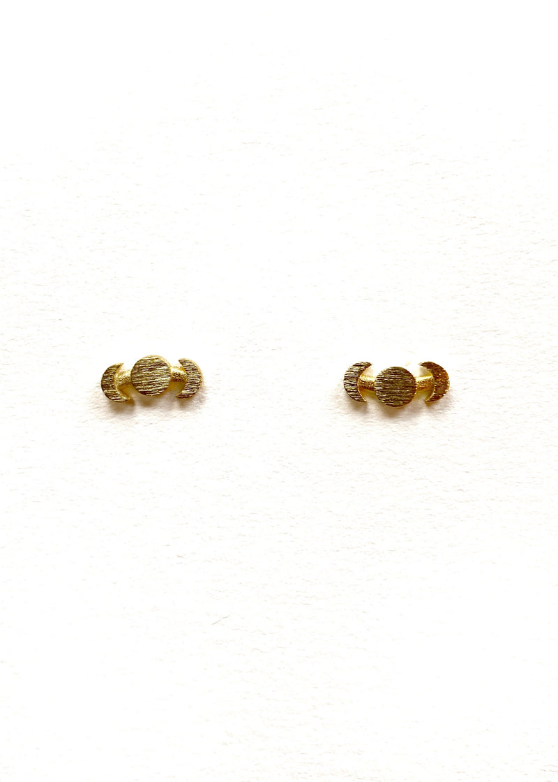 Wander - Moon Phase Studs - Gold