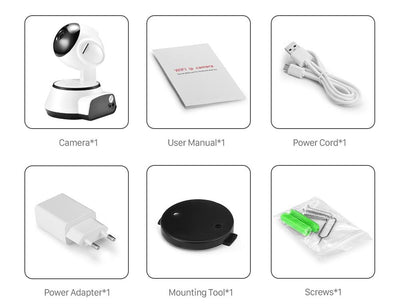 Baby™Cam 1080 with SD Card - Tilt Pan WiFi Camera - Baby Monitor - Night Vision - Motion Detector - Remote Access Viewing