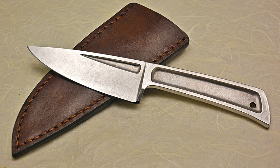 Boye Basic 3 with Plain Etched Blade and Leather Sheath.
