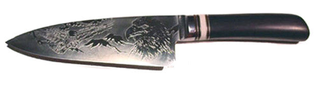 6 inch Chef's Knife with 'Eagles' Etching.